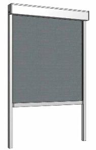 Маркиза оконная экран ZIP (С) с тканью Кристалл (прозрачная) 0,65-0,5-0,5 FR