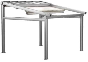 Алюминиевая пергола UNO A3 с тремя секциями